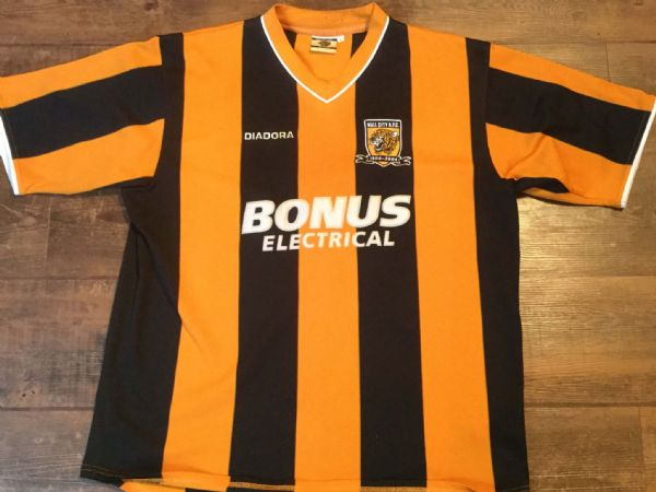 2004 2005 Hull City Home Centenary Football Shirt Adults Large